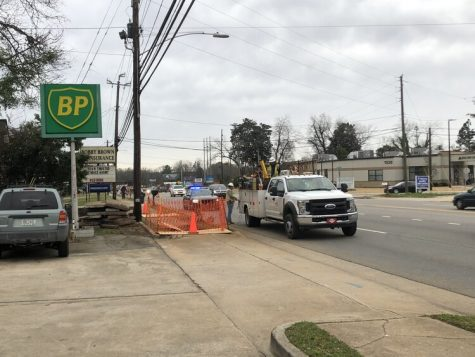 Road Work Causes Delays on North Columbia Street