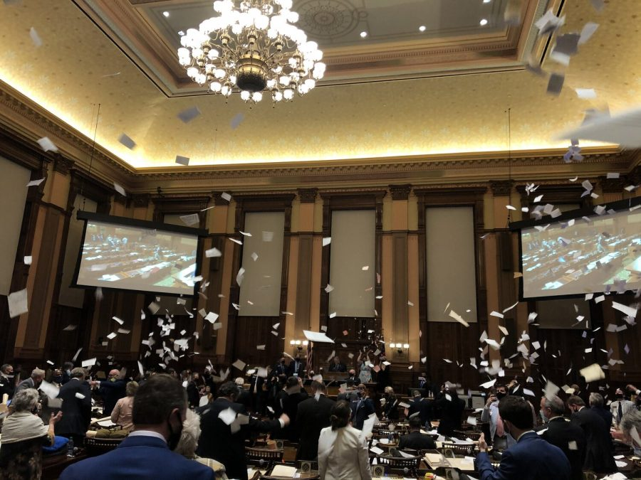 FLYING PAPERS AND NEW LAWS MARK THE END OF THE 2021 LEGISLATIVE SESSION