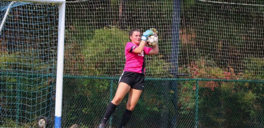 PBC+Goalkeeper+of+th+Week+Kate+Richardson+makes+a+save+for+the+Bobcats+during+a+3-1+loss+to+Columbus+State+Saturday+Sep.+18.
