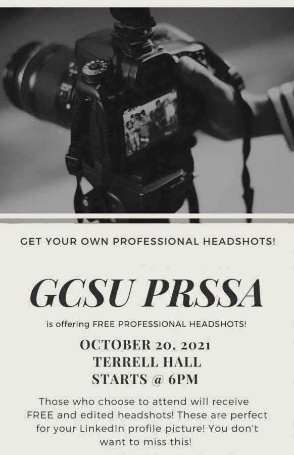 GCSU PRSSA Offers FREE Professional Headshots
